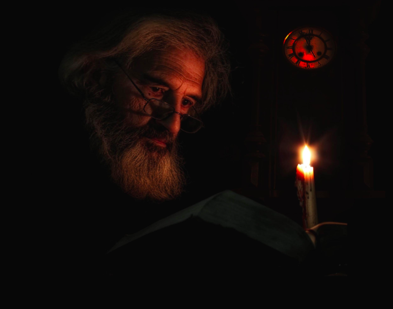 Poet, reader, Alfredo Yañez